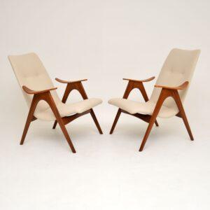 Pair of Vintage Dutch Armchairs by Louis Van Teeffelen