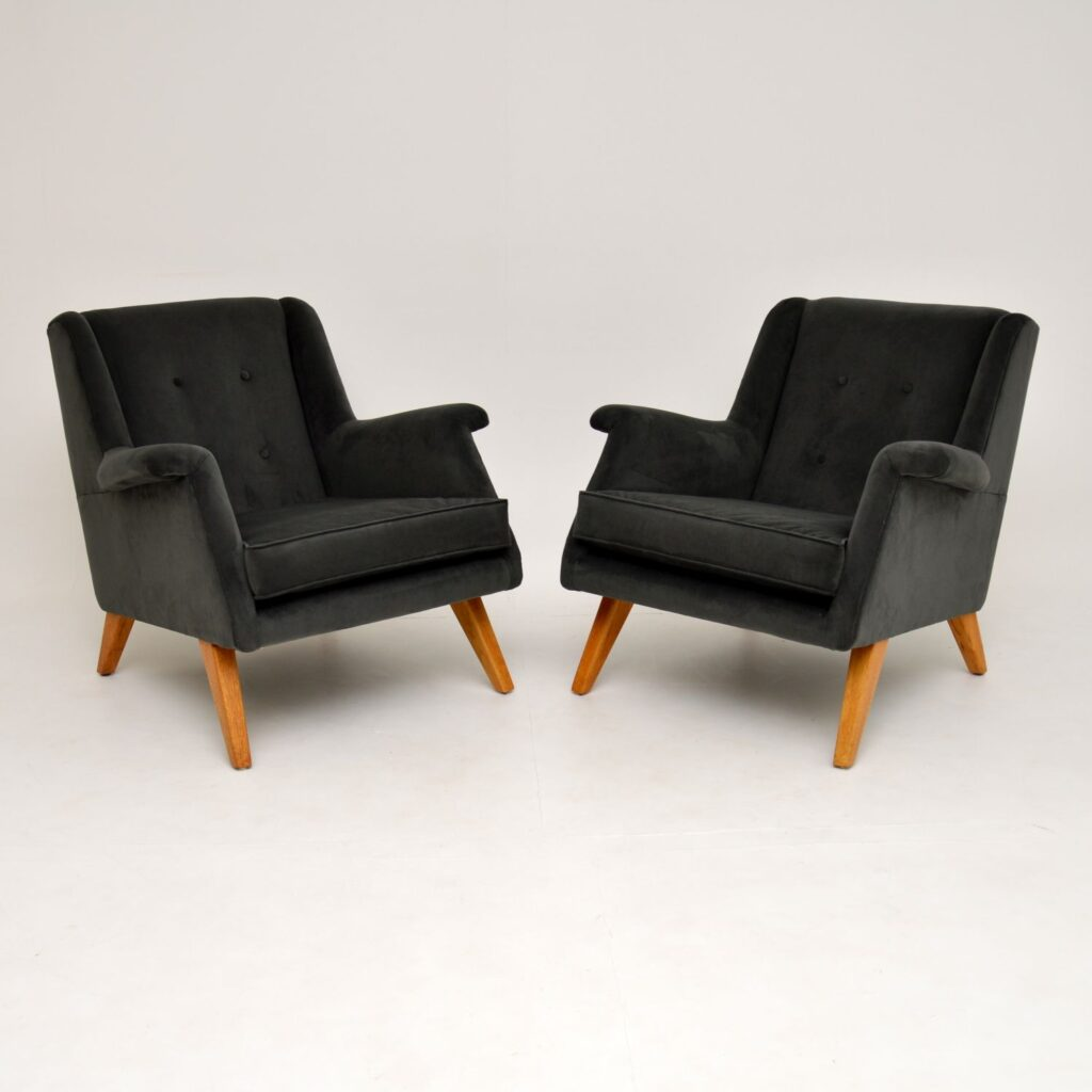pair of retro vintage g- plan 1950's armchairs