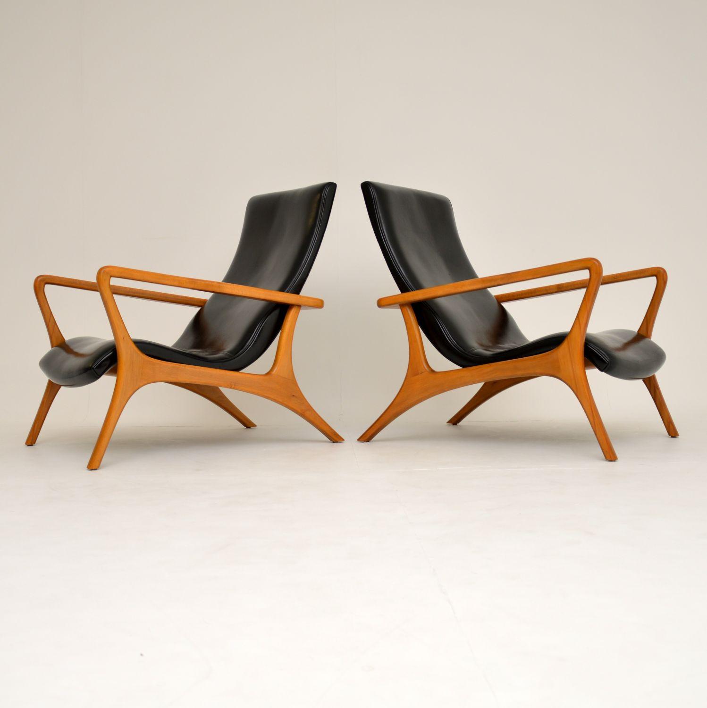 pair of retro vintage vladimir kagan contour retro vintage armchairs