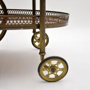 1960's Vintage French Brass Drinks Trolley