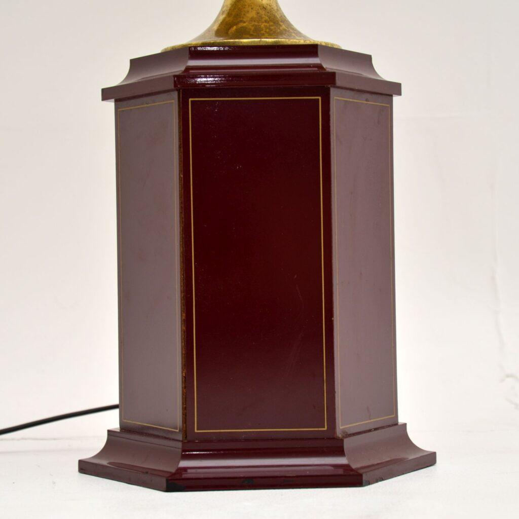 retro vintage french hollywood regency brass pineapple floor table lamp