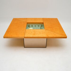 1970's French Birds Eye Maple Coffee Table by Paul Michel