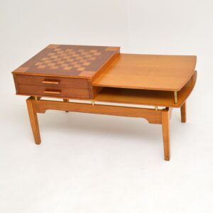 retro vintage coffee chess games table