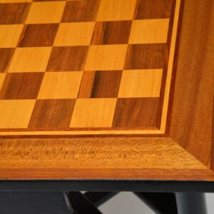 retro vintage chess games table