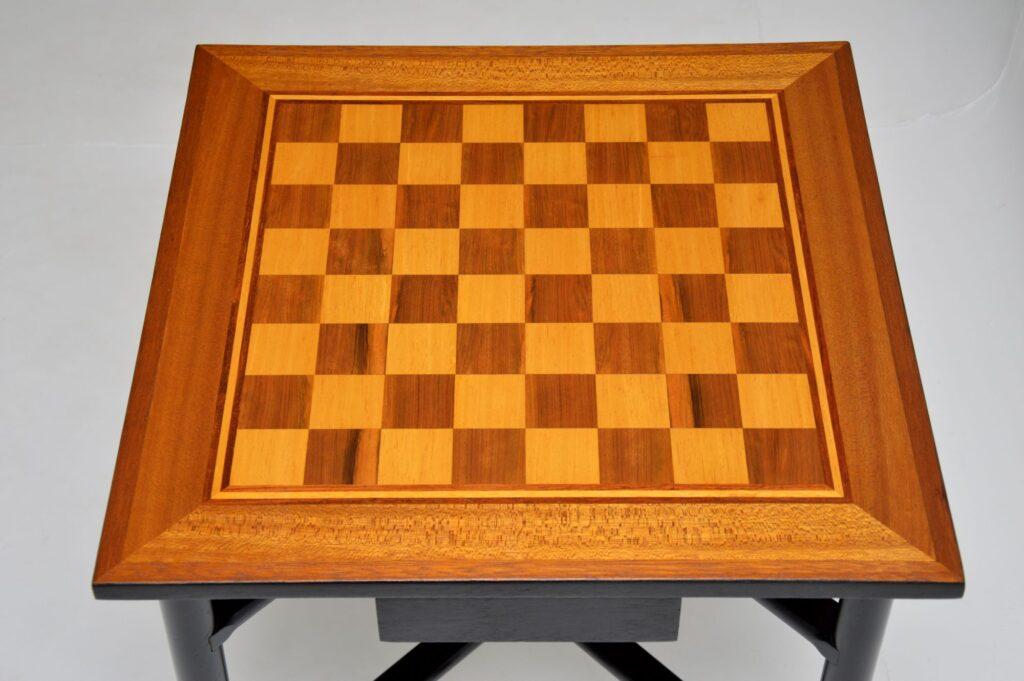 retro vintage chess games table