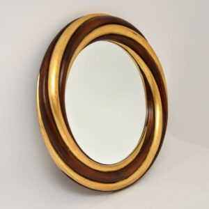 harrison & gil retro vintage gilt wood mirror