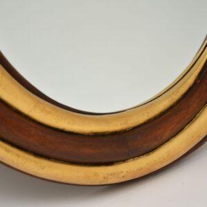 harrison & gil retro vintage gilt wood mirror
