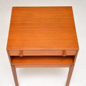 teak retro vintage side lamp bedside table