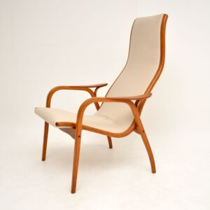 retro vintage teak lamino chair armchair yngve ekstrom swedese
