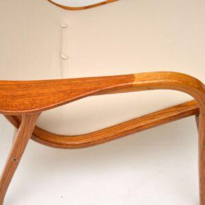 1960's Vintage Swedish Teak Lamino Armchair by Yngve Ekstrom