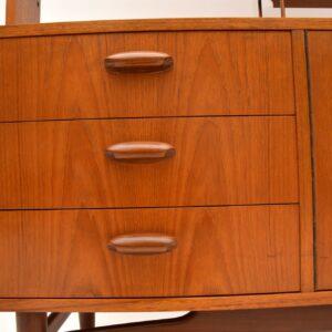 retro vintage teak bookcase room divider cabinet g plan