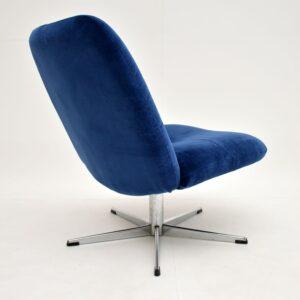 retro vintage swivel armchair lounge chair