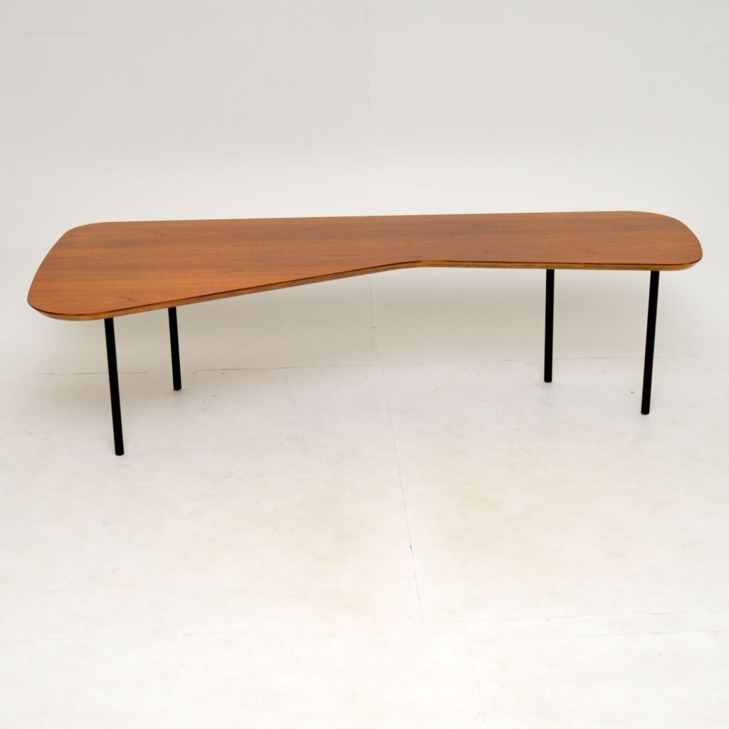 alexander girard knoll walnut vintage retro coffee table