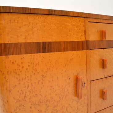 art deco burr maple walnut sideboard