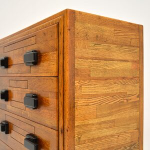 Art Deco Solid Oak Chest of Drawers Vintage 1930's