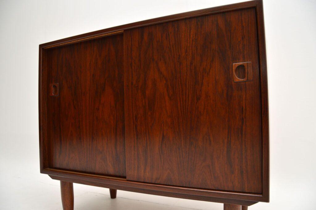 retro vintage danish rosewood cabinet sideboard
