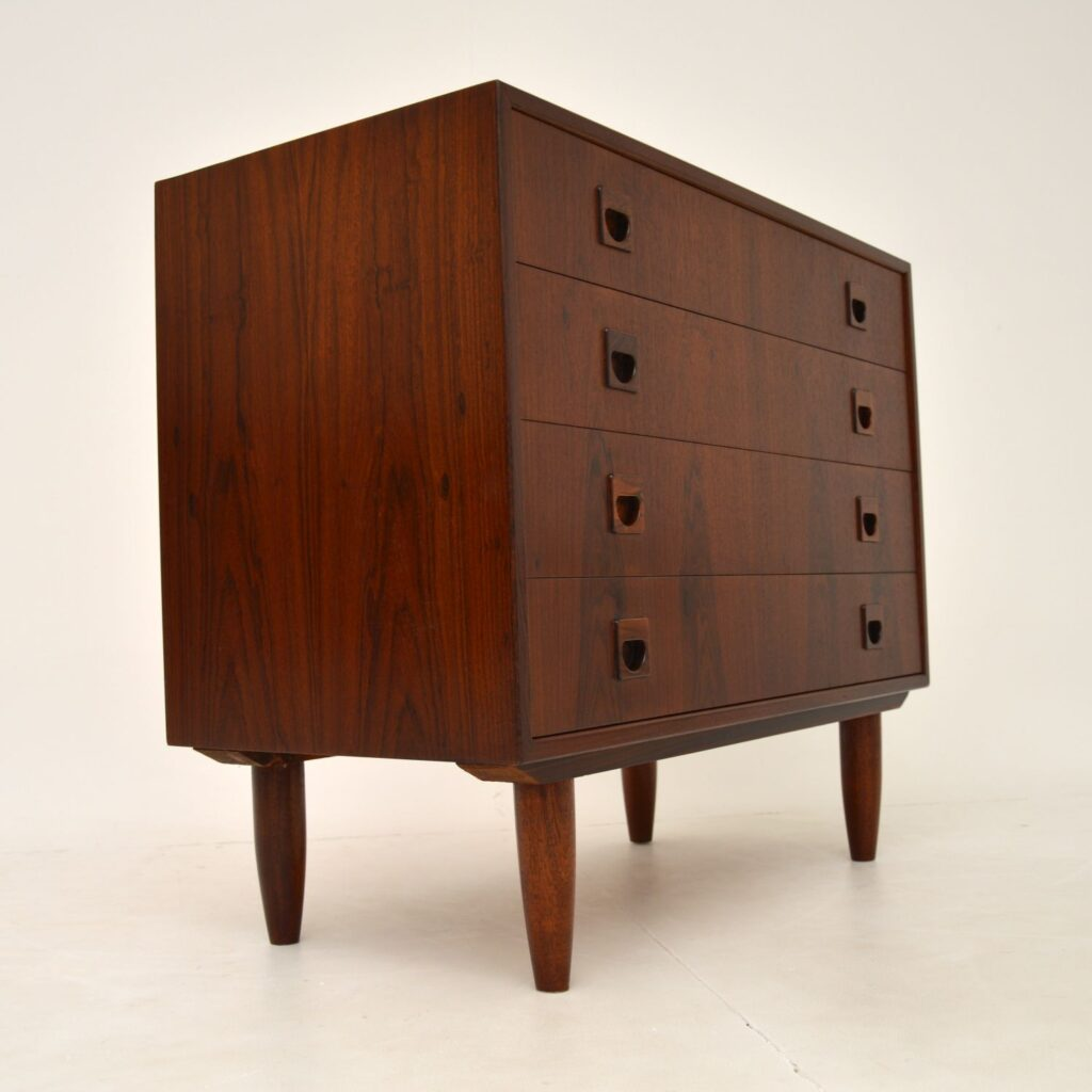 danish rosewood retro vintage chest of drawers