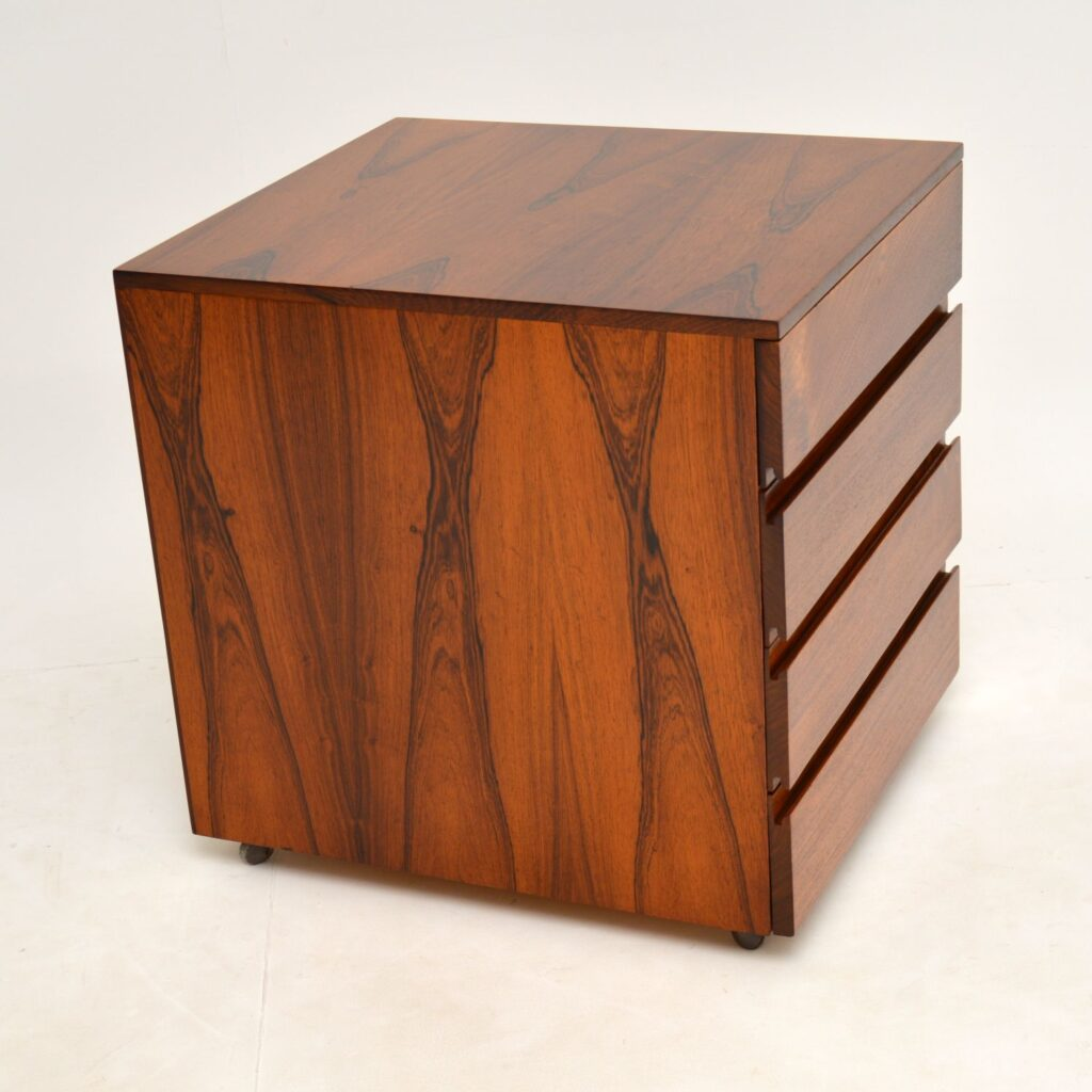 danih rosewood retro vintage filing chest of drawers