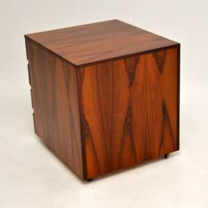 Danish Rosewood Filing Chest of Drawers Vintage 1960's