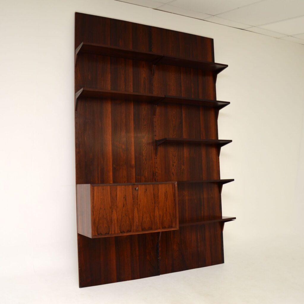 danish retro rosewood vintage royal shelving system cado cadovius