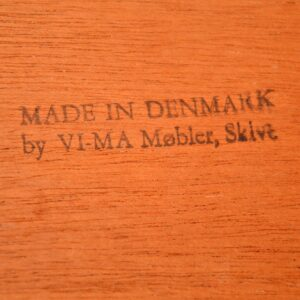 1960's Danish Teak Desk by VI-MA Mobler