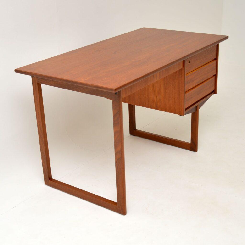 danish retro vintage teak desk