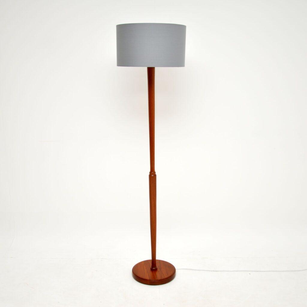 danish retro vintage teak floor lamp