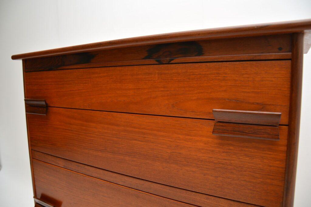 danish retro vintage teak rosewood chest of drawers