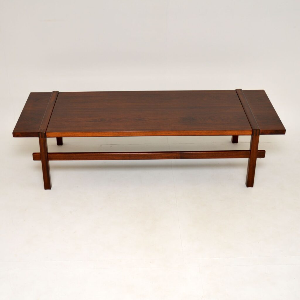danish rosewood retro vintage reversible coffee table