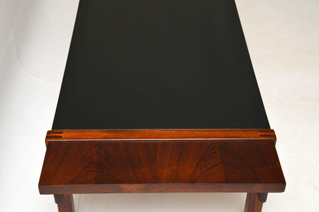 danish rosewood retro vintage reversible coffee table