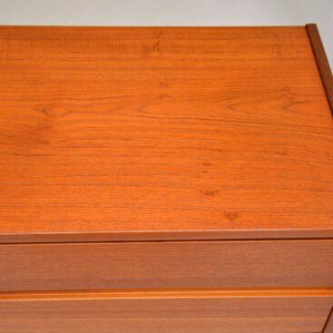 Danish Teak Chest of Drawers Vintage 1960's