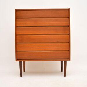 danish etro vintage teak chest of drawers