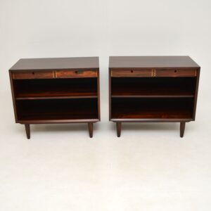 pair of danish retro rosewood cabinets bedside sideboard poul cadovius cado