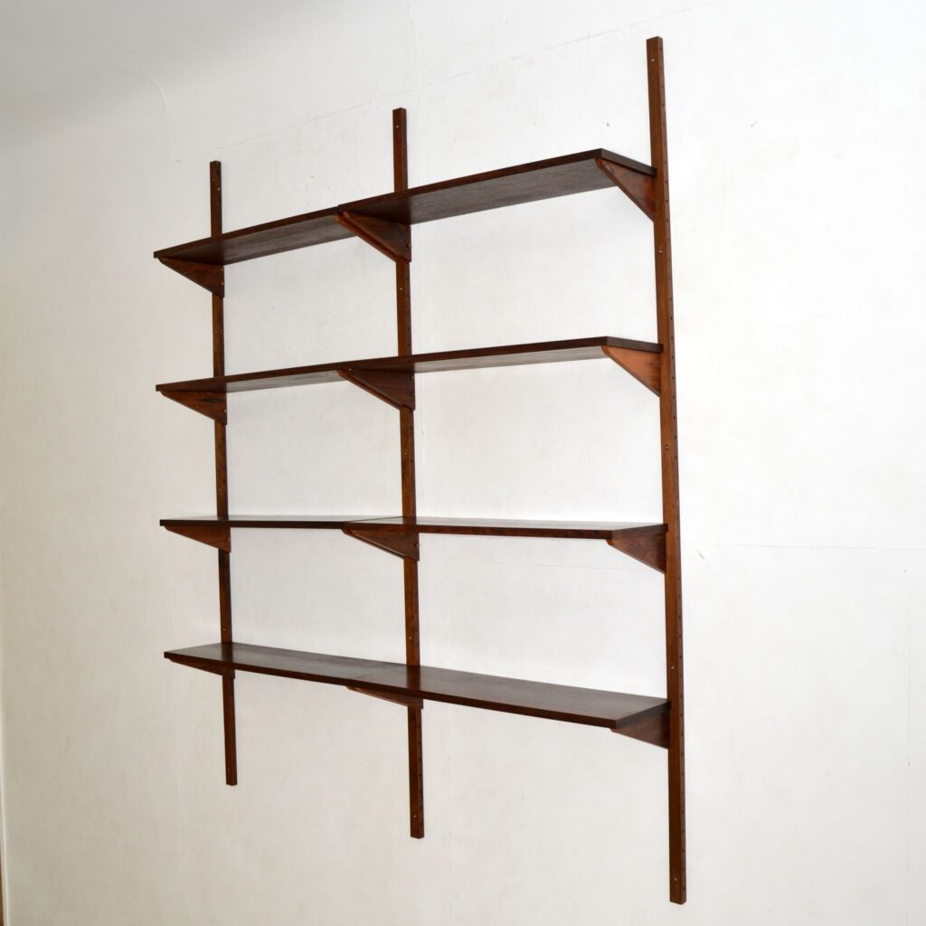danish retro vintage rosewood ps wall shelving royal system
