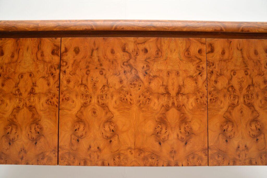 retro vintage walnut burr pollard oak sideboard