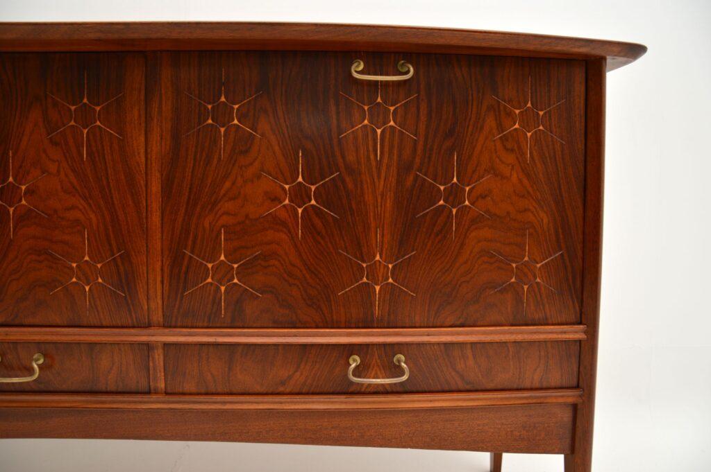 retro vintage rosewood sideboard peter hayward vanson starburst
