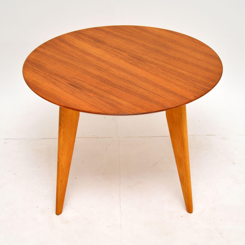 retro vintage walnut coffee table