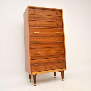 retro vintage walnut chest of drawers g plan tallboy