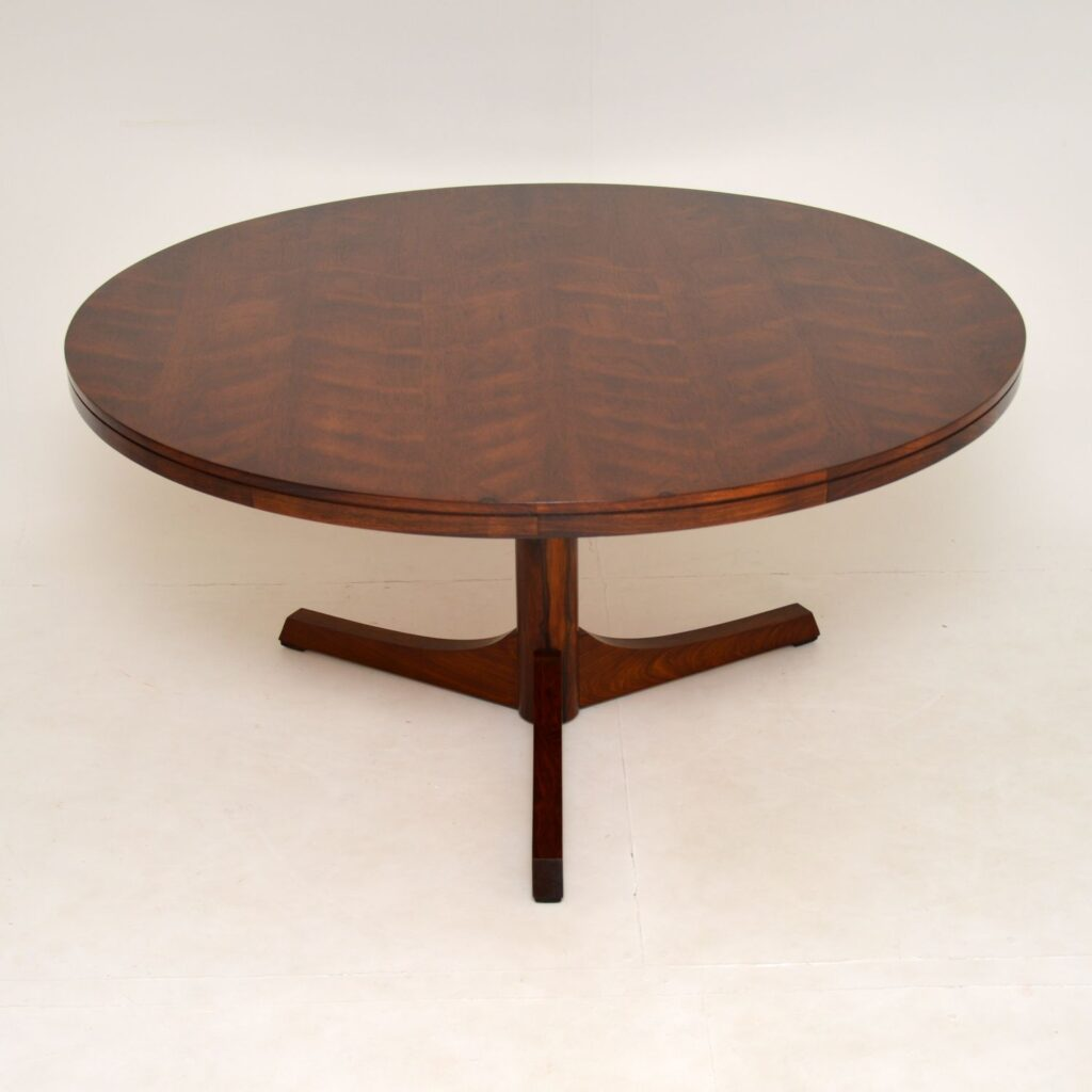 danish rosewood vintage archie shine robert heritage dining table