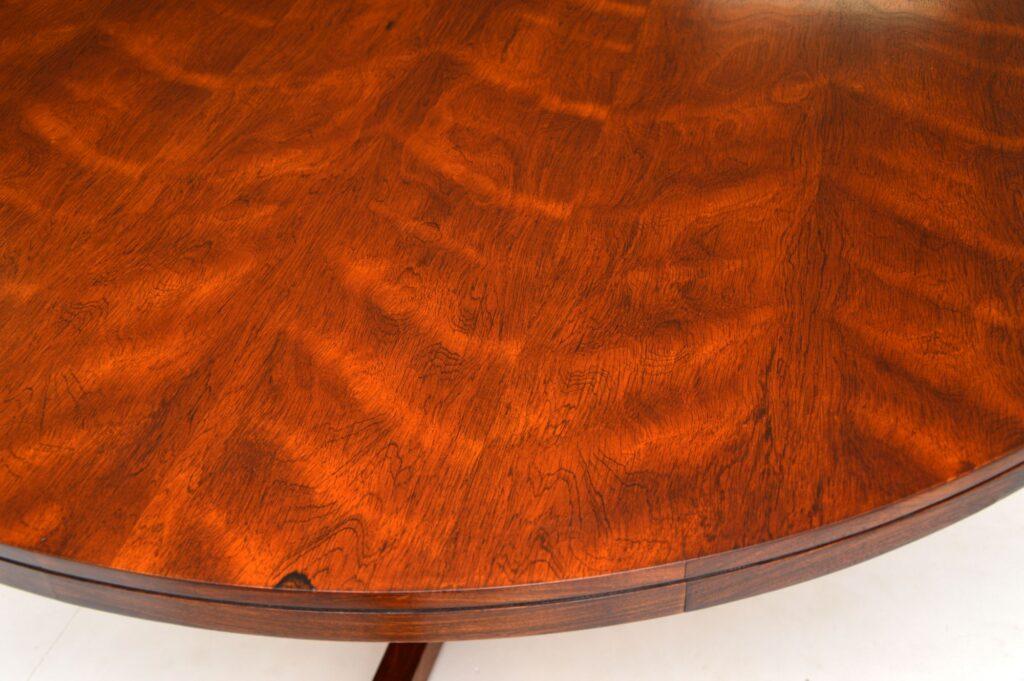 danish rosewood vintage archie shine robert heritage dining table