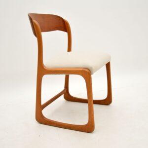 Set of 4 Danish Teak Vintage Dining Chairs 1960's