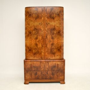 1930's Art Deco Burr Walnut Compactum Wardrobe