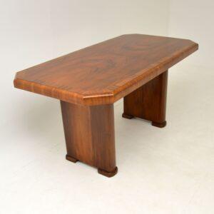 art deco walnut dining table desk