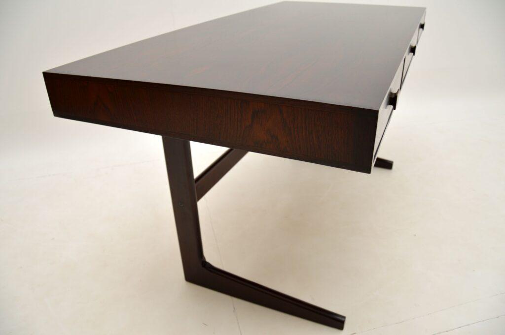 danish rosewood retro vintage desk georg petersens