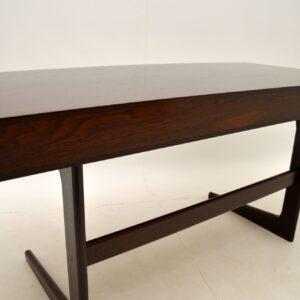 Danish Rosewood Desk by Georg Petersens Vintage 1960's