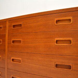danish retro vintage teak sideboard chest of drawers poul hundevad