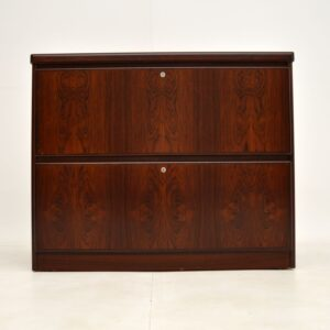 danish rosewood retro vintage filing chest of drawers