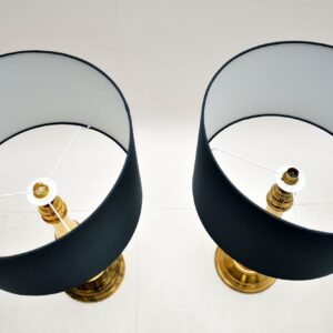 Pair of Brass Table Lamps Vintage 1970's