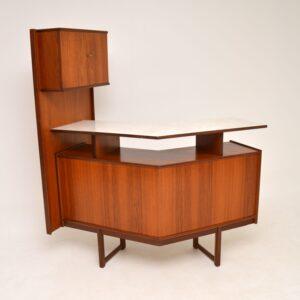retro vintage danish teak drinks cabinet bar