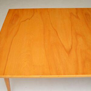 retro vintage satin birch dining table ten dining chairs